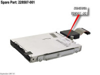 Привод HP 1.44MB floppy disk drive 12.7mm (0.5in) height DL380G2/G3/G4-399311-001(new)