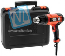 Фен технический BLACK & DECKER KX2200K-QS 2000Вт температура t=65 - 645С 360-720л/мин